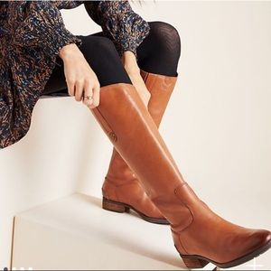 Sam Edelman Penny Leather Riding Boots Whiskey 7.5